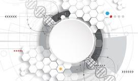 脱氧核糖核酸摘要象和元素汇集 未来派技术 向量例证