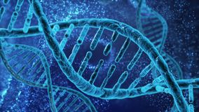 DNA cell model research concept, 3D rendering Stock Footage