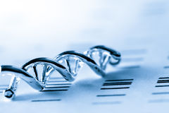 脱氧核糖核酸,分子实验室试验 免版税库存照片