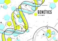 脱氧核糖核酸,基因概念性背景 库存图片