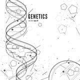 脱氧核糖核酸,基因概念性背景 免版税库存图片