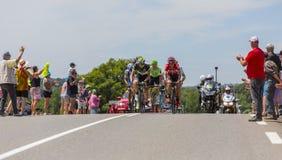 脱离-环法自行车赛2017年 库存图片
