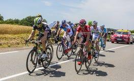 脱离-环法自行车赛2017年 库存照片