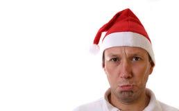 脾气坏的圣诞老人 库存图片