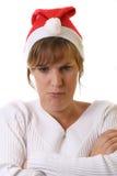 脾气坏的夫人圣诞老人 免版税库存照片