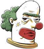 脾气坏的小丑 库存图片