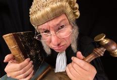 脾气坏的法官 库存照片
