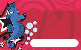 脾气坏的海象表示动画片卡片 免版税库存图片