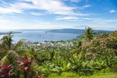 腊包尔,巴布亚新几内亚海湾  免版税图库摄影