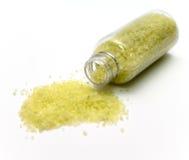腌制槽用食盐黄色 免版税库存图片