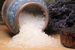 腌制槽用食盐 图库摄影