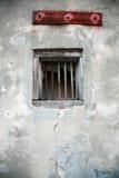 腐朽的墙壁视窗 免版税图库摄影