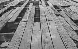 腐朽的木地板 库存图片