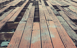 腐朽的木地板 免版税库存图片