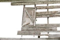 腐朽的木窗口 免版税库存图片