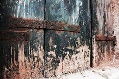 腐朽的窗口在威尼斯,意大利 库存照片