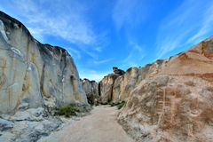 腐朽的花岗岩石头峡谷  免版税图库摄影