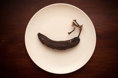 腐烂的老香蕉 库存照片