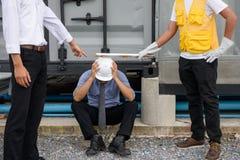 腐败工程师经理被拘捕和被惩罚 库存图片