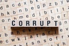 腐败词概念 免版税图库摄影
