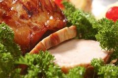 腰部猪肉 免版税库存照片