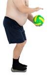 腹部、球和标度 免版税库存照片