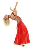 腹部弯曲的舞蹈演员 免版税库存照片