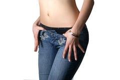 腹部性感的妇女 库存照片