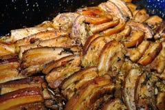 腹部烤猪肉 免版税库存照片