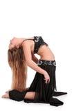 腹部白肤金发的舞蹈演员 库存图片