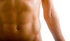 腹部赤裸机体的男 免版税库存照片
