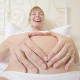 腹部重点形状 库存图片