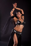 腹部黑人服装舞蹈演员 免版税库存照片
