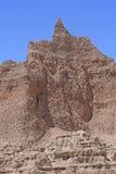 腾飞入天空的荒地石峰 图库摄影