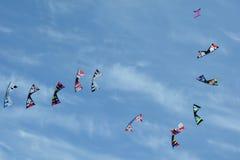 腾飞在天空的风筝 库存照片
