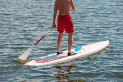 腿供以人员实践的桨02 免版税库存图片