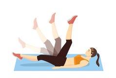 腿摇摆锻炼 免版税库存图片