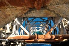 腿的起重器在平台的起重器 免版税图库摄影