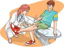 腿考试 库存例证