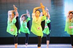 腿训练这排练教室这全国舞蹈训练 免版税库存图片