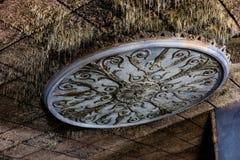 膏药细节-被抛弃的普罗克特的宫殿剧院-纽瓦克,新泽西 免版税库存图片