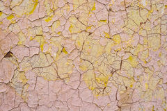 膏药表面上的米黄破裂的绘画 免版税库存图片
