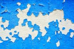膏药表面上的蓝色破裂的绘画 图库摄影