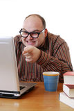膝上型计算机书呆子 免版税图库摄影