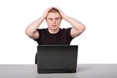 膝上型计算机人 图库摄影