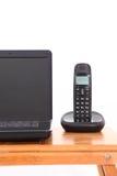 膝上型计算机和手机 免版税库存图片