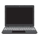 膝上型计算机屏幕,笔记本的例证 免版税库存图片