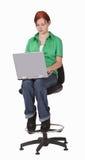 膝上型计算机工作 图库摄影