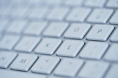 膝上型计算机特写镜头键盘 免版税库存图片