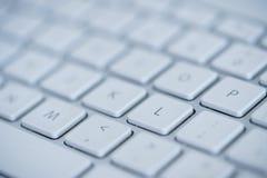 膝上型计算机特写镜头键盘 库存图片